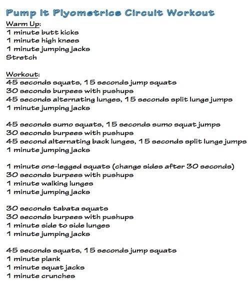 plyometrics circuit i tried this and i was really sore! fitness