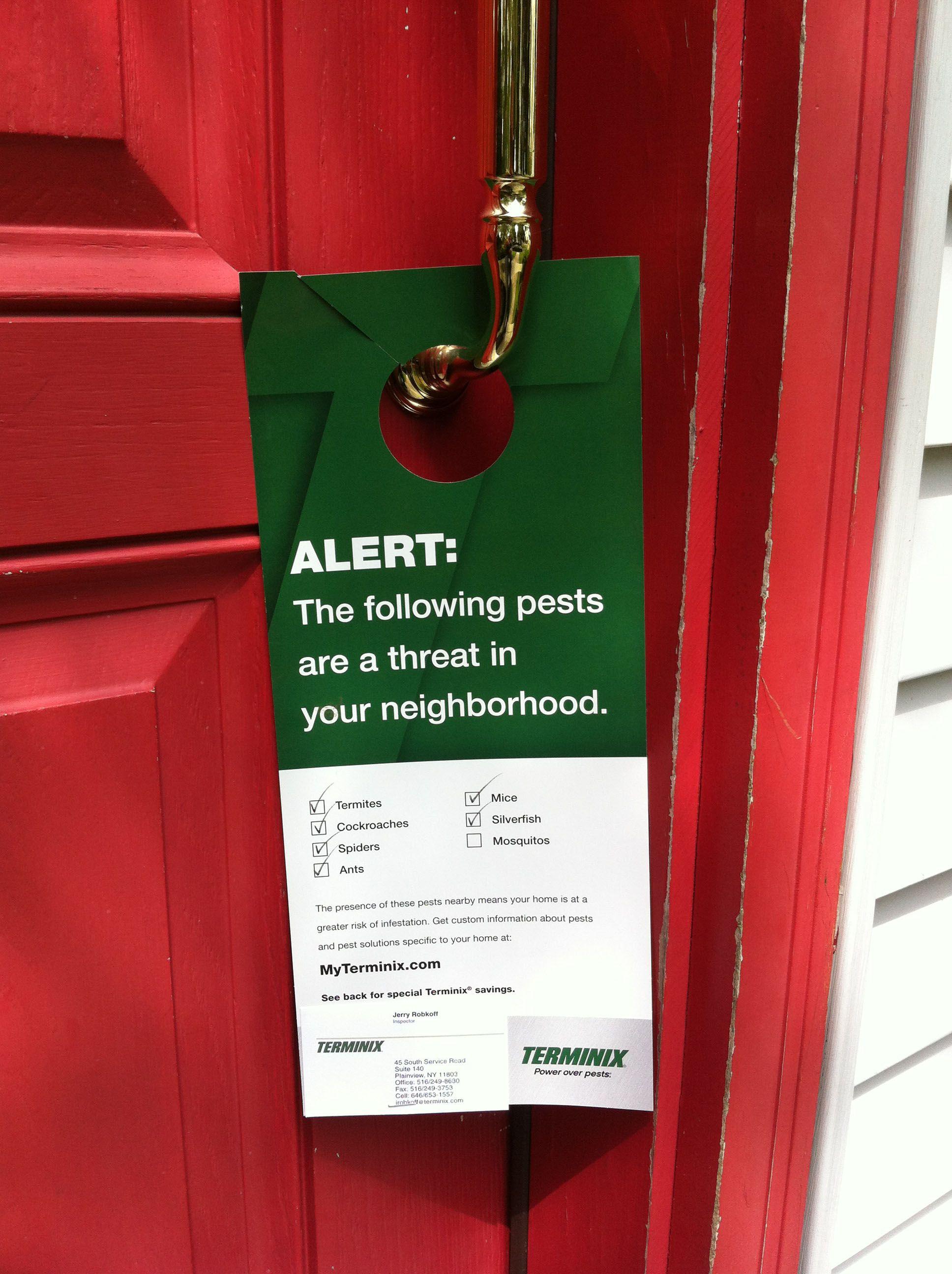 Look What I Found At My Front Door Promotional Door Hanger Used - Used front doors