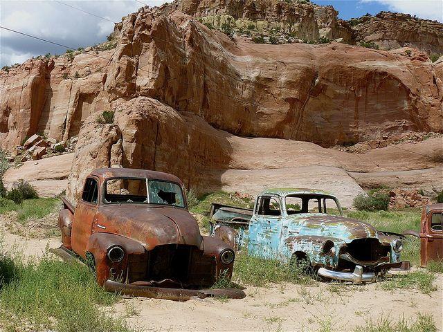 Rusted truck heaven!