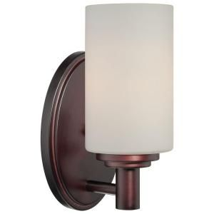Photo of Thomas Lighting Pittman 1-Light Sienna Bronze Sconce 190023719 – The Home Depot