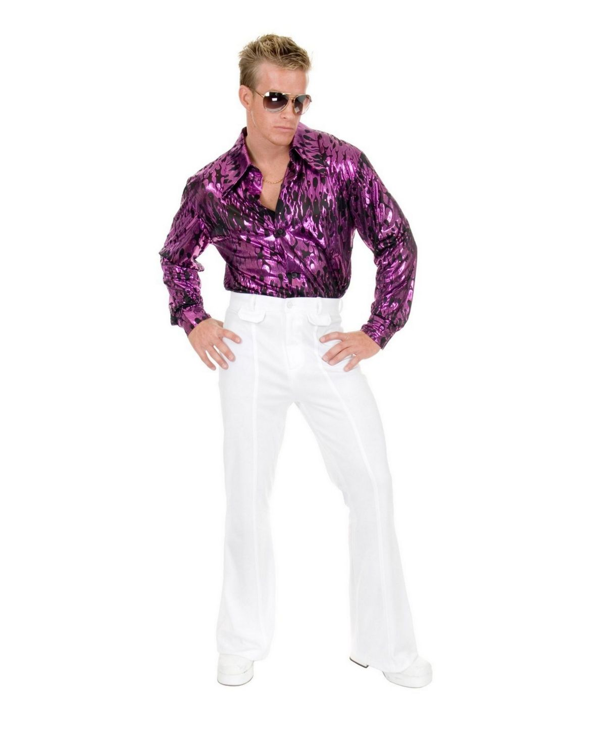 Bell Bottom Pants Purple Adult Men/'s Costume 60/'S Style Halloween Dress Up