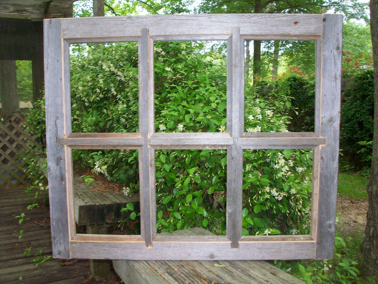 8x10 Handcrafted Barnwood Window Pane Picture Frame 6 Pane 3950
