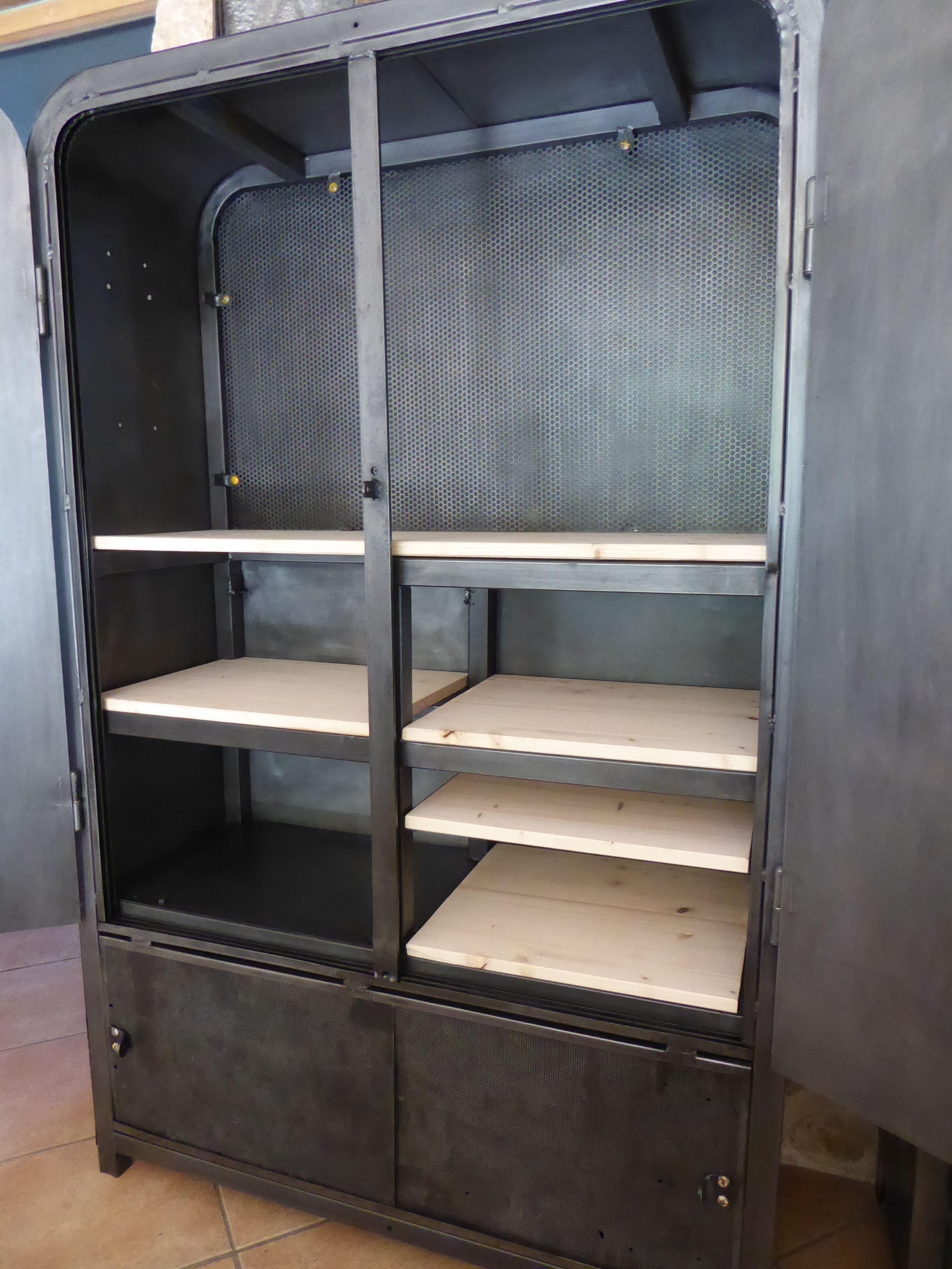 Küchenschränke in der garage armoire industrielle eureka en métal inspirationrecup vous