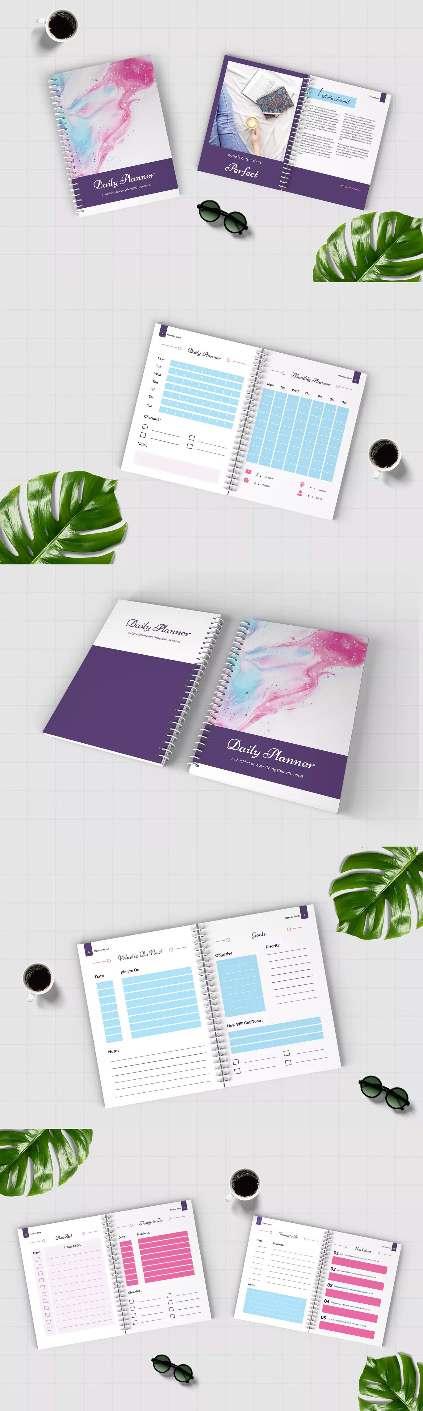 Worksheet Daily Planner Book