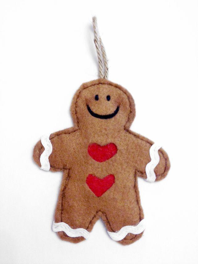 Christmas Gingerbread Man Tree Decoration Gingerbread! Pinterest