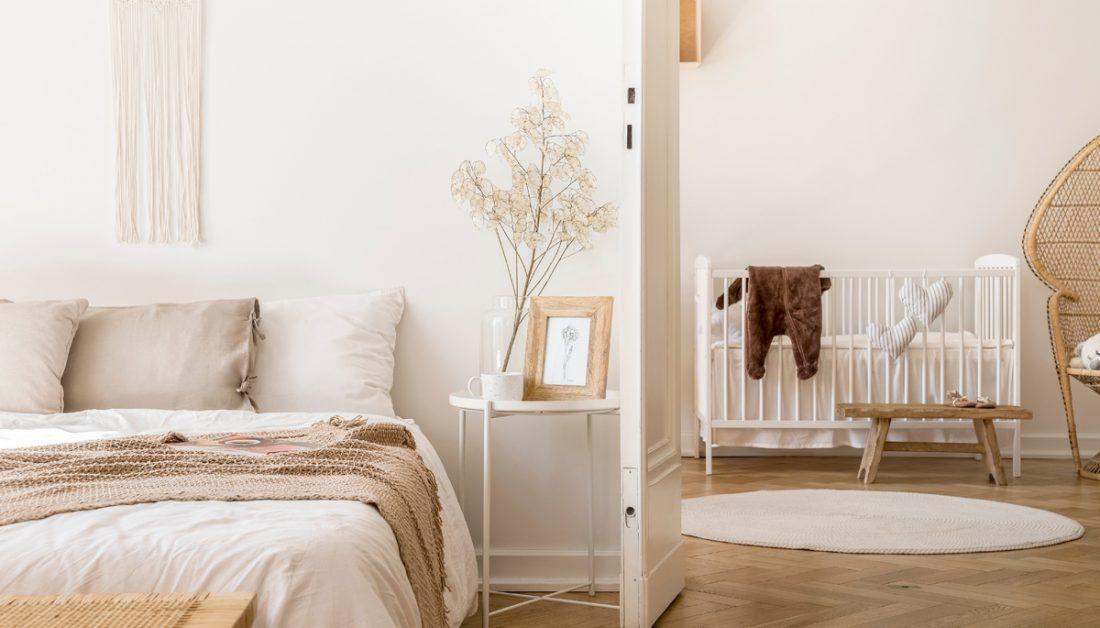 Idee für ein Schlafzimmer mit integriertem Babyzimmer ...