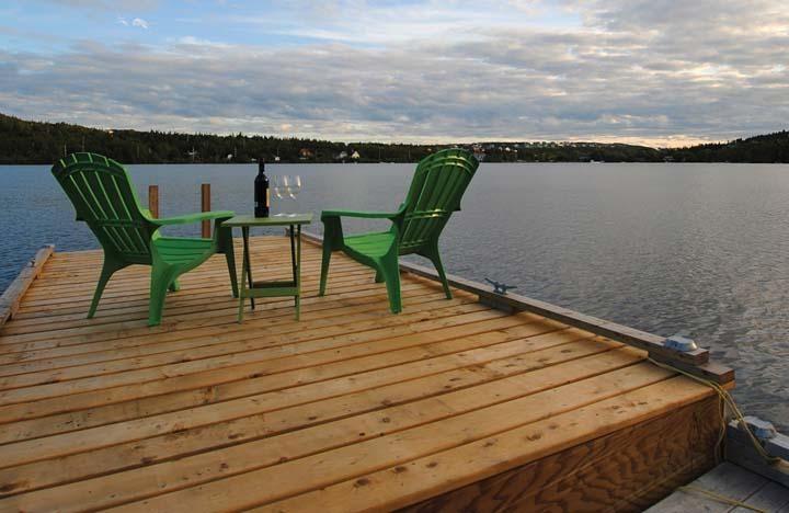 Home cabin lake dock cabin home