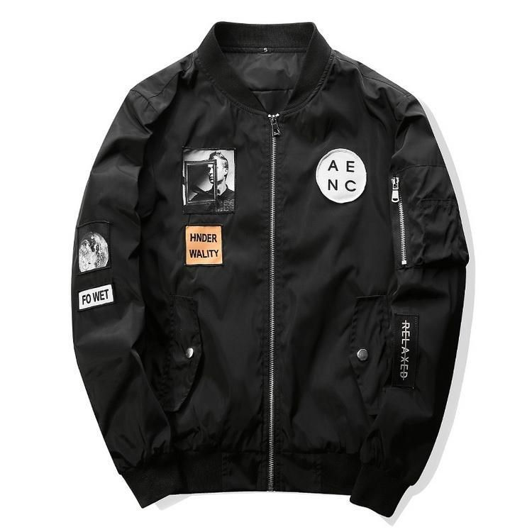 Abstract New Yorker Street Fashion Bomber Jacket