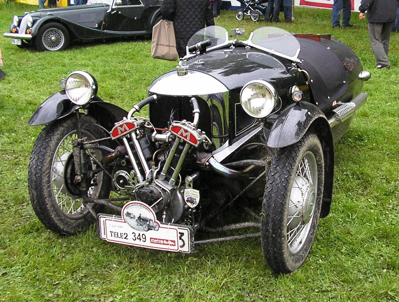 Morgan 3 Wheeler Ed With A Matchless Mx4 Engine Between 1911 1939 The Motor Company Used Variety Of Propietary V Twin Engines In Their