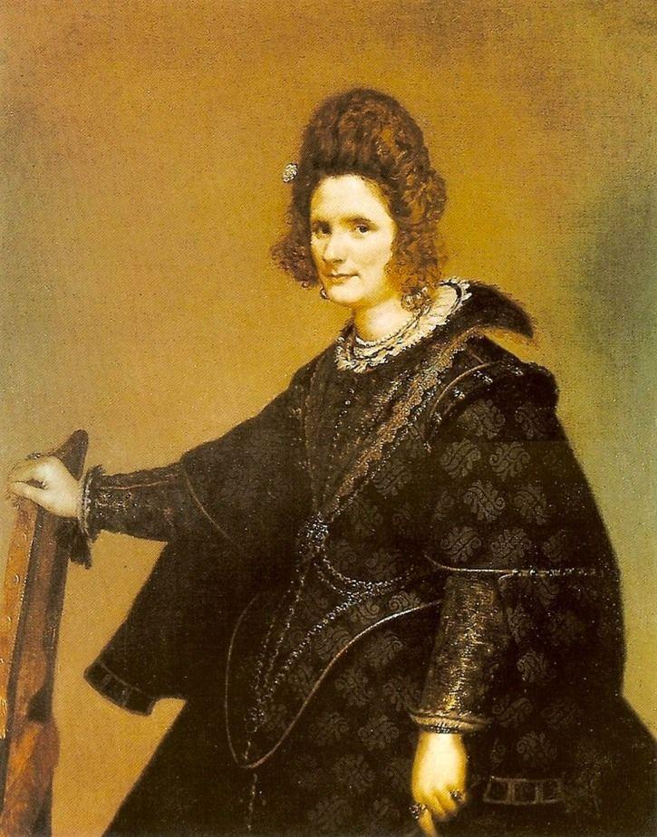 ca. 1635 Retrato de la condesa de Olivares by Diego Velázquez