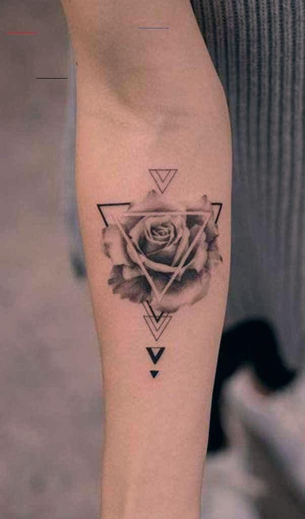 Einzigartige geometrische Rose Unterarm Tattoo Ideen für Frauen Trendy Floral Flower Arm Ta ..., #ar