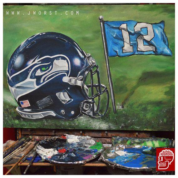 CUSTOM NFL HELMET Painting christmas gift present by JeremyWorst
