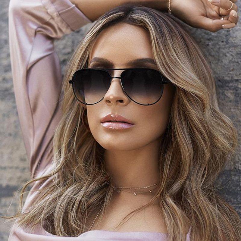 8c060669ee8d 2019 Vintage Sunglasses Women Brand Designer Shades flat top Female  Sunglass Mirror Sun Glasses For Women 2018 zonnebril dames