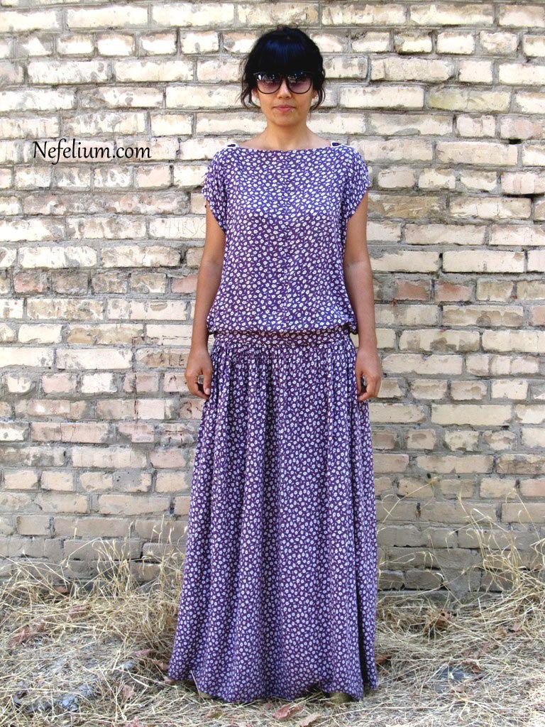 Сшить модное платье из штапеля