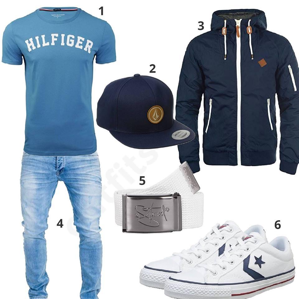 Herrenoutfit Mit Tommy Hilfiger Shirt Und Jacke Outfit Fur Manner 2019 Jeans Manner Manner Kleidung Manner Outfit