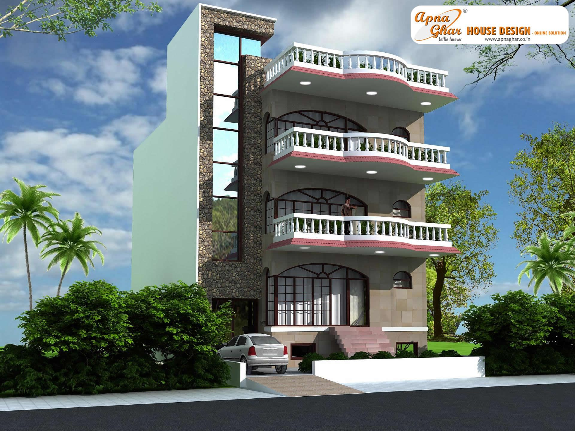 4 bedroom modern triplex 3 floor house design area for 2nd floor house front design
