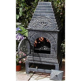 Superior CASTMASTER Large Cast Iron Chiminea Outdoor Pizza Oven