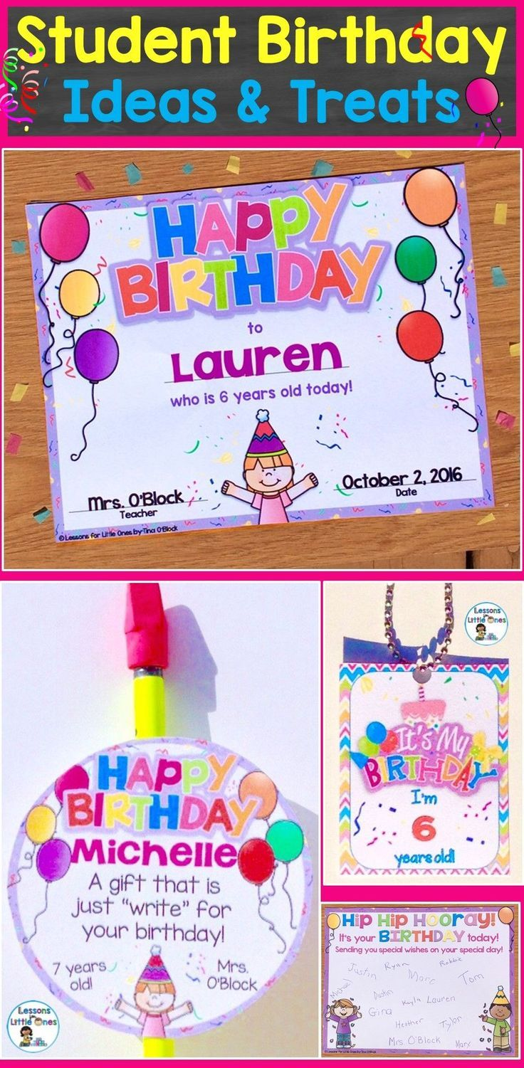 Celebrating Birthdays in the Classroom & Ideas for Student Birthday ...