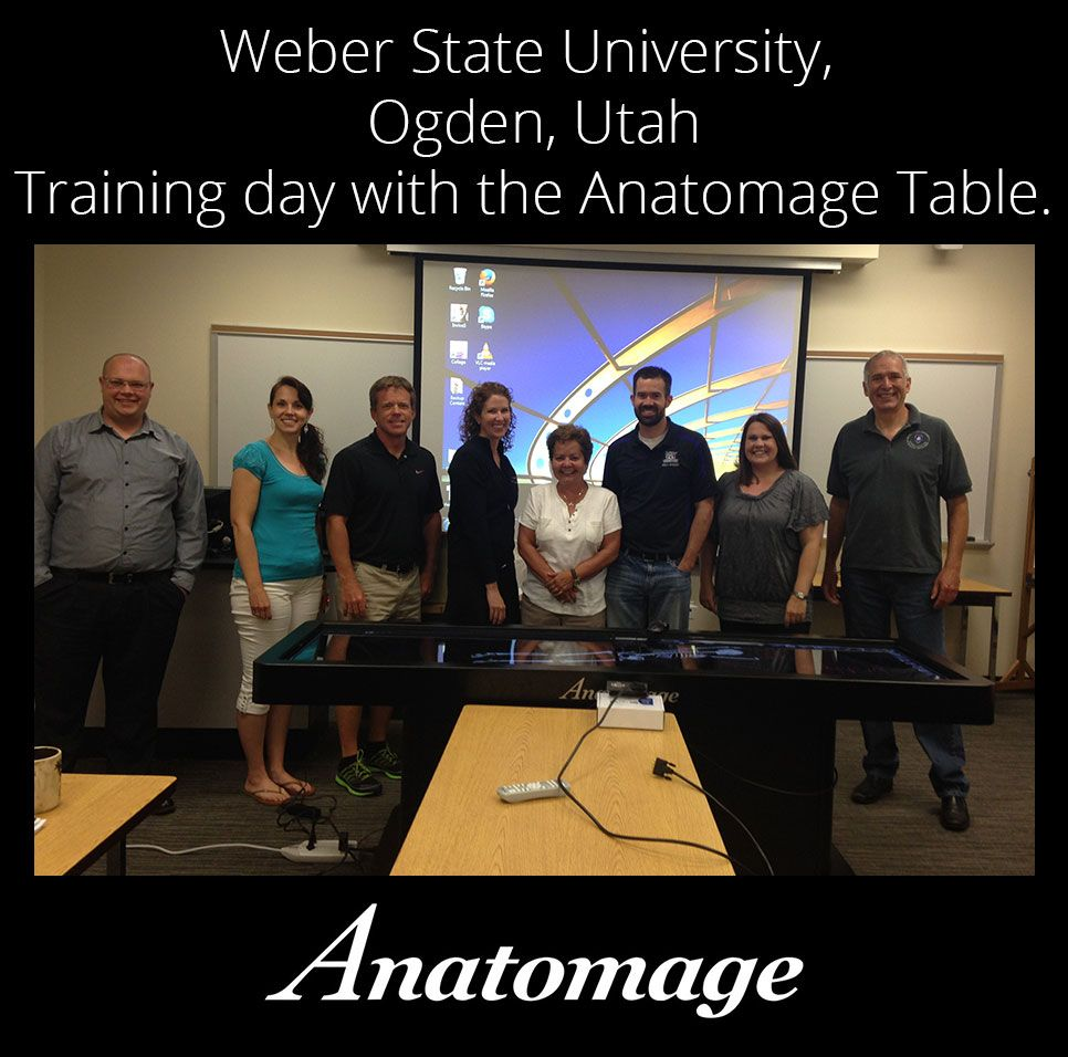 Anatomage Table training day at Weber State University, Ogden, Utah ...