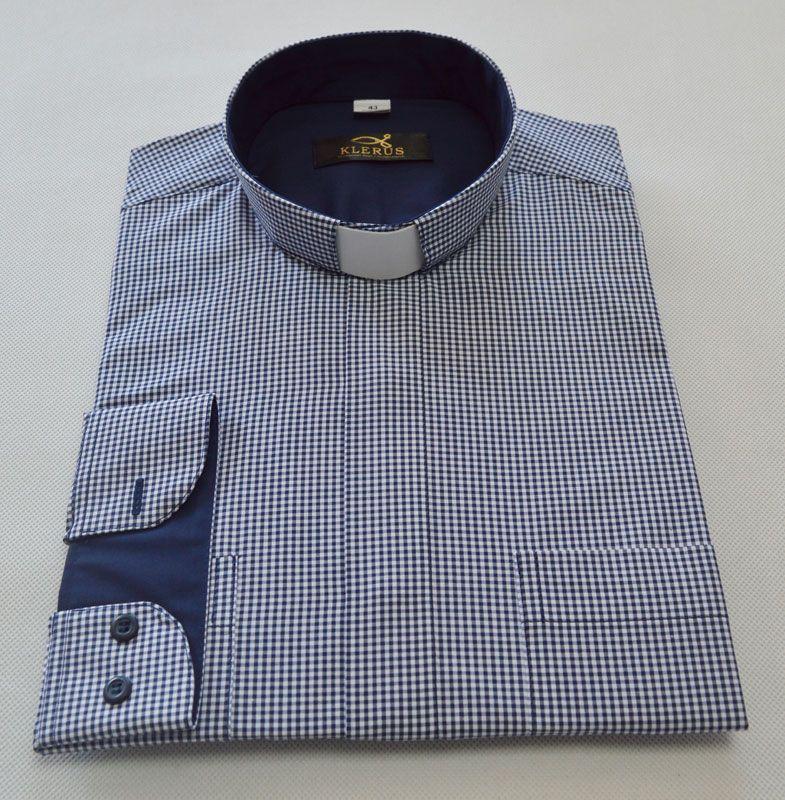 Koszula dla księdza w kratkę KK10 | Koszula, Rękaw, Tkaniny  UTqf7