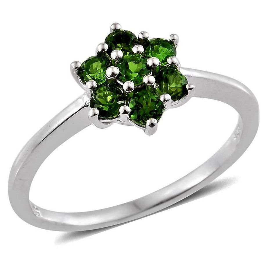 Russian Chrome Diopside Ring 1 Ct Size 9 Sterling Usa
