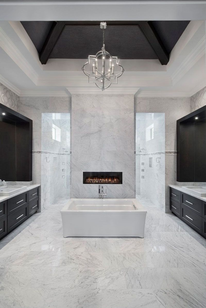 Opening Up Fireplace Design Possibilities With Ortal S Cool Wall Technology Bathroom Top Master Bathroom Design Bathroom Decor [ 1198 x 800 Pixel ]