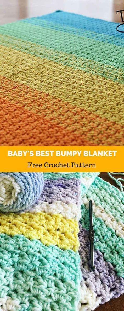 Baby\'s Best Bumpy Blanket [ FREE CROCHET PATTERN in 2018   Artsy ...