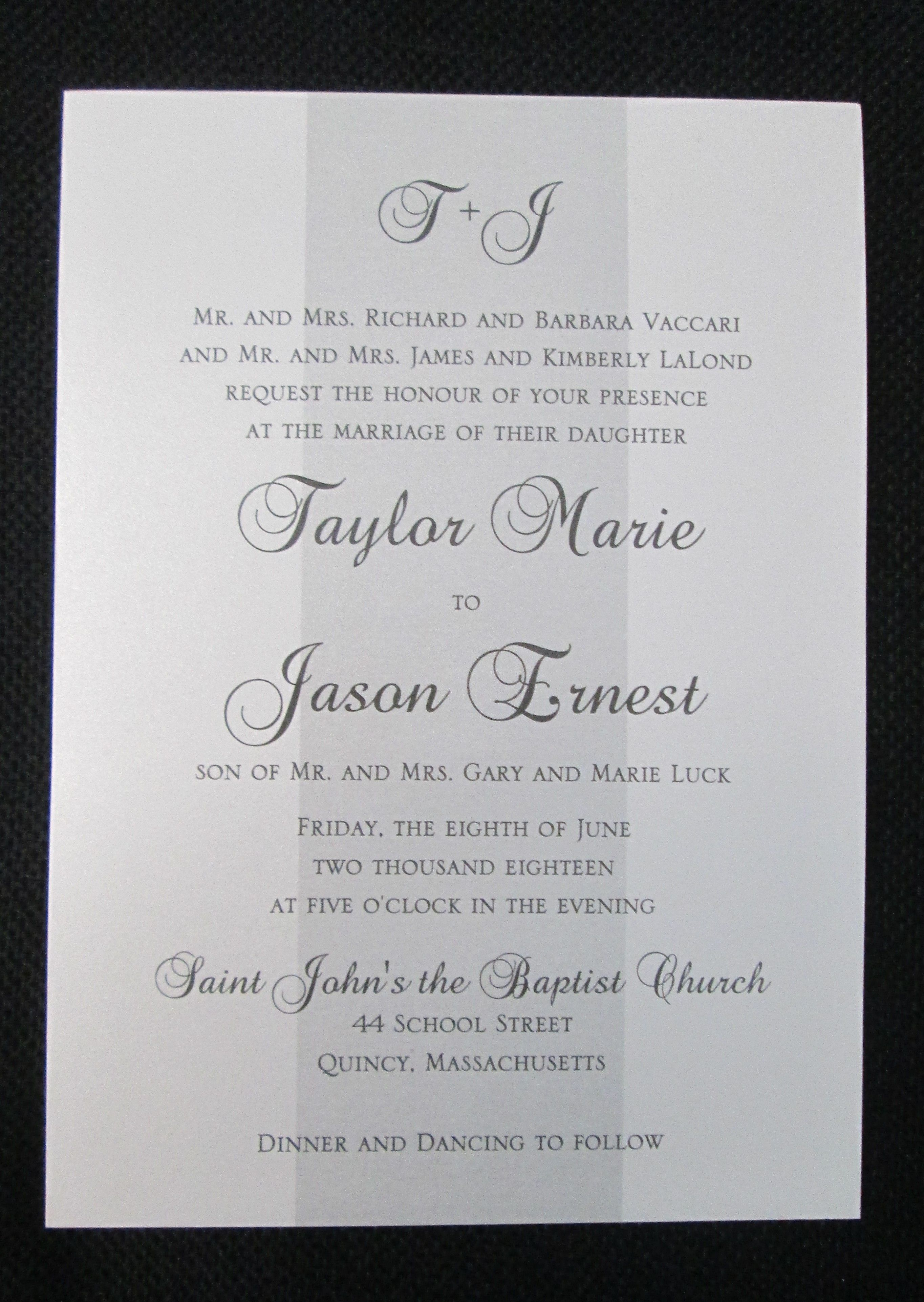 Single Layer Wedding Invitations #weddinginvitation | Wedding ...