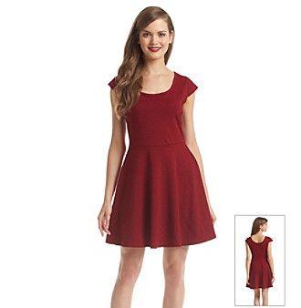 Be Bop Cap Sleeve Skater Dress