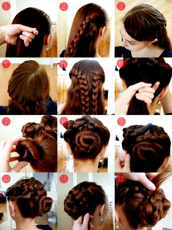 How To Hairstyles How To Hairstyles For Long Hair Stepstep Braid Updo Hairstyles
