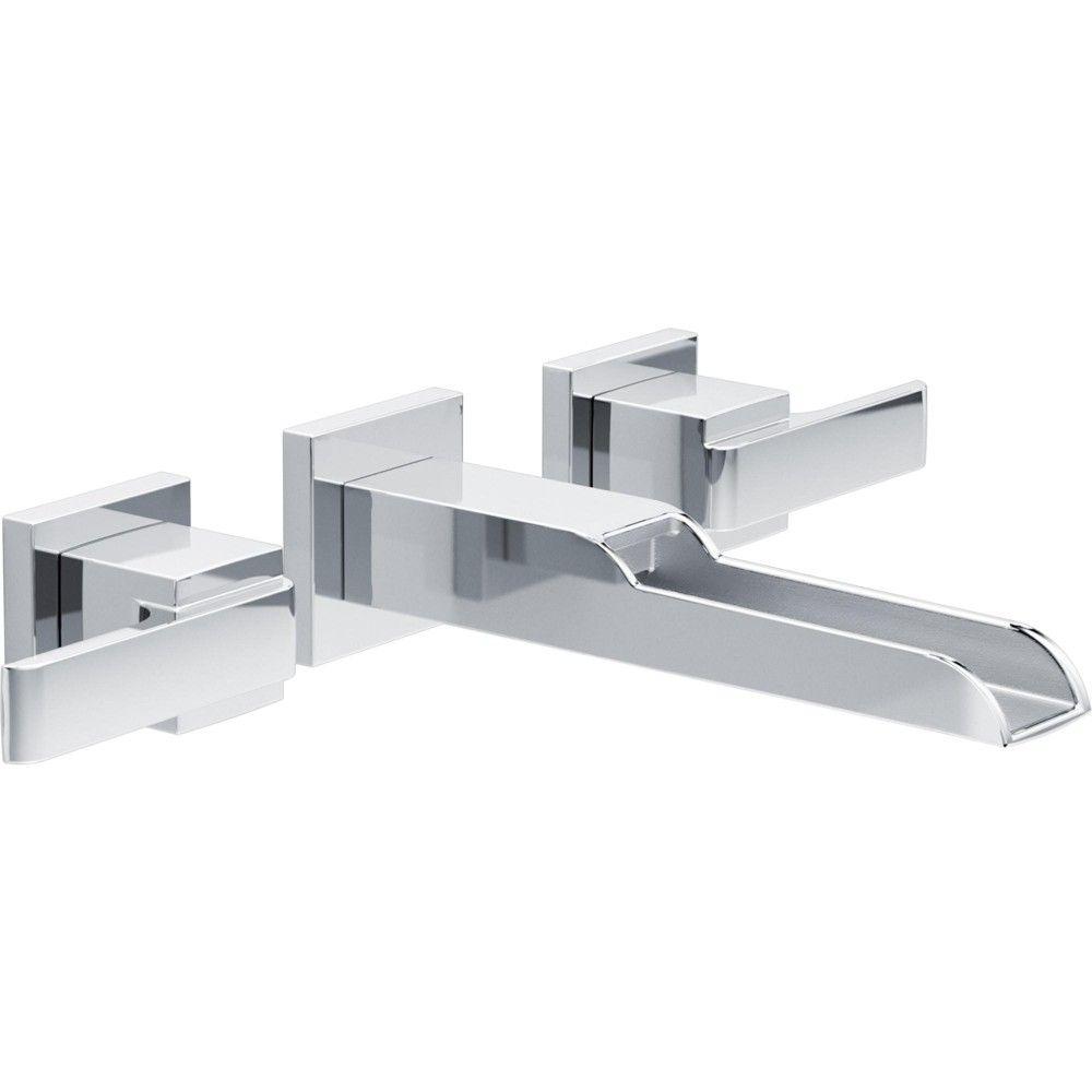 Delta Faucet T3568lf Wl Ara 1 2 Gpm Wall Mounted Waterfall Bathroom Sink Faucet Chrome Bathroom Sink Faucets Chrome Wall Mount Faucet Bathroom Sink Faucets [ 1000 x 1000 Pixel ]