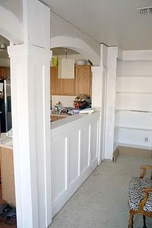 Love The Arches Board And Batten Wall And Columns And