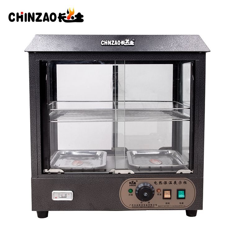 Commercial stainless steel electric food warmer showcase