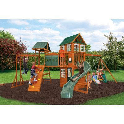 Big Backyard Hillcrest Wooden Play Swing Set (With images ...