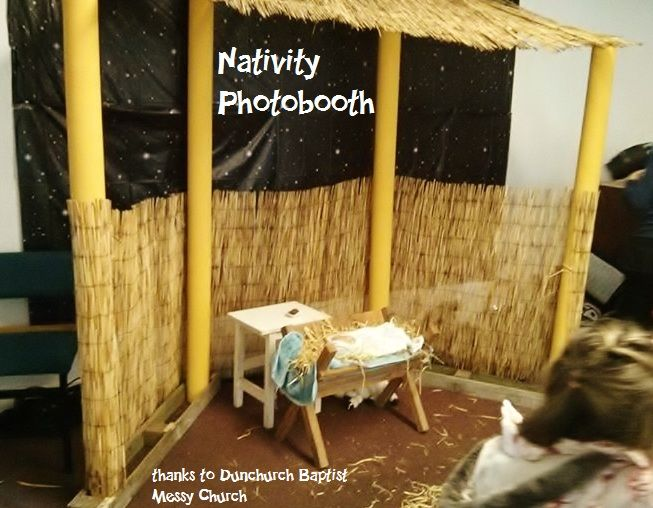 Christmas Nativity Photobooth Idea   Families Take Photos With Baby Jesus  In Manger (thanks To