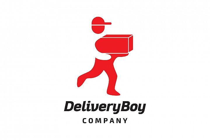 Delivery boy logo 327820 logos design bundles