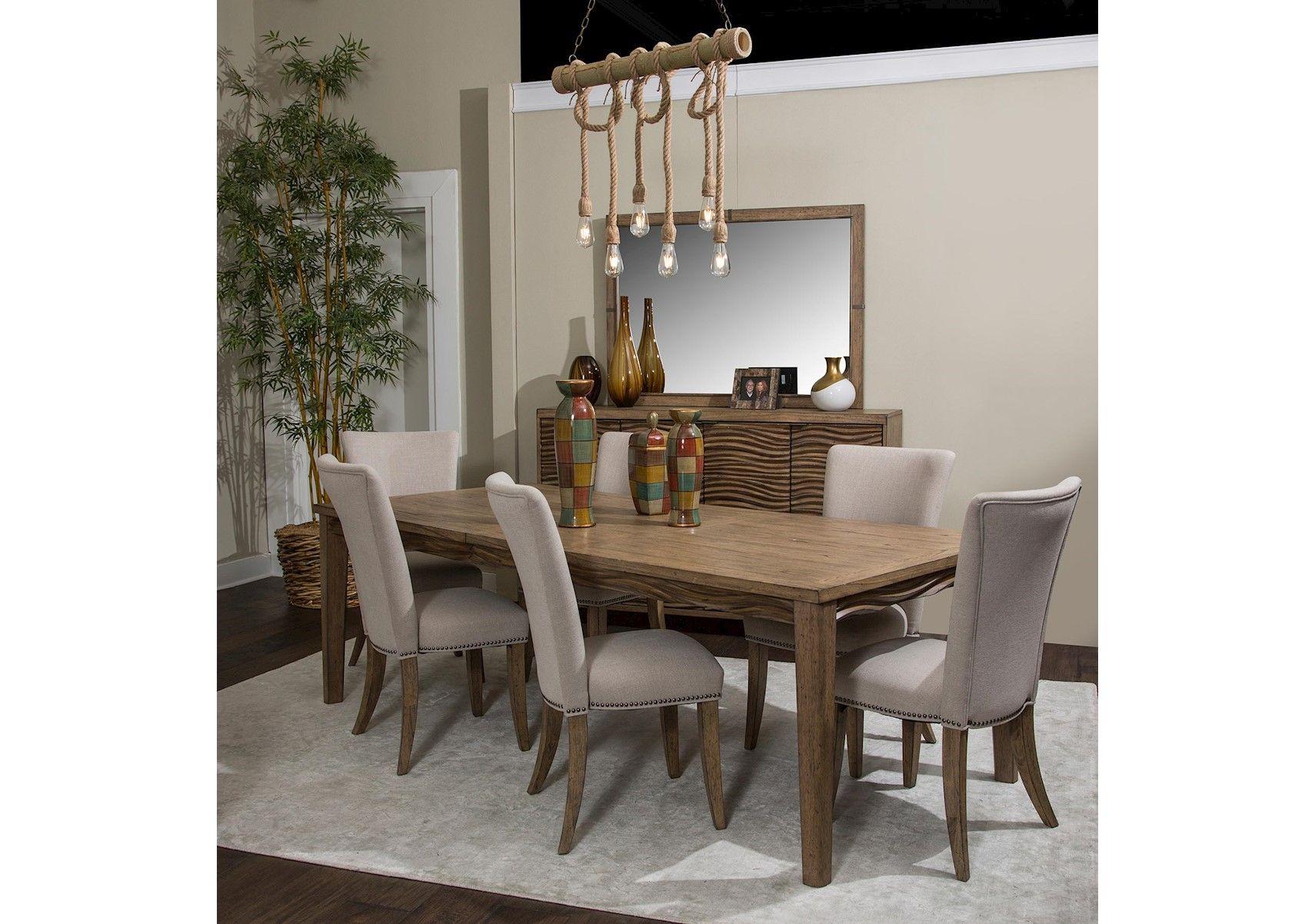 Lacks Del Mar Sound 7 Pc Dining Set Dining Room Sets Aico Dining Room Round Dining Room