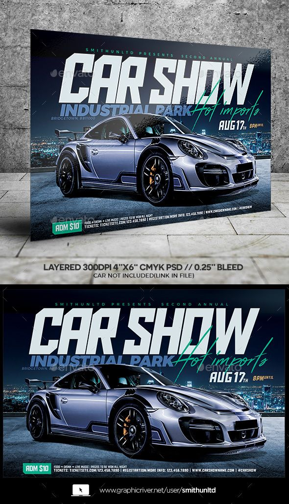 Car Show Hot Imports Flyer  Horizontal  Flyer Template Event