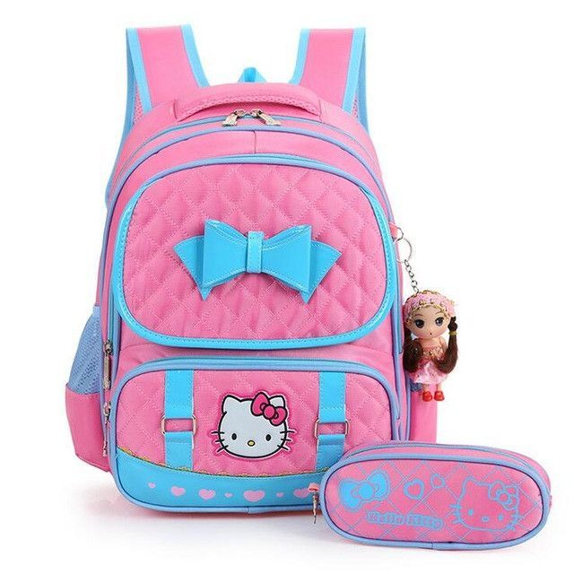 5c98a780d7 High Quality Hello Kitty Girl School Bag Waterproof Primary Backpack Kid Bag  Lovely Boby Bag