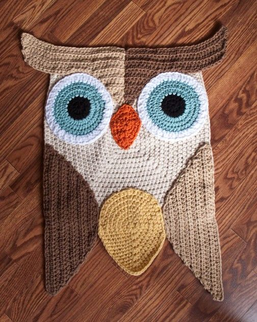 Buho alfombra de ganchillo por PeanutButterDynamite en Etsy | VARIOS ...