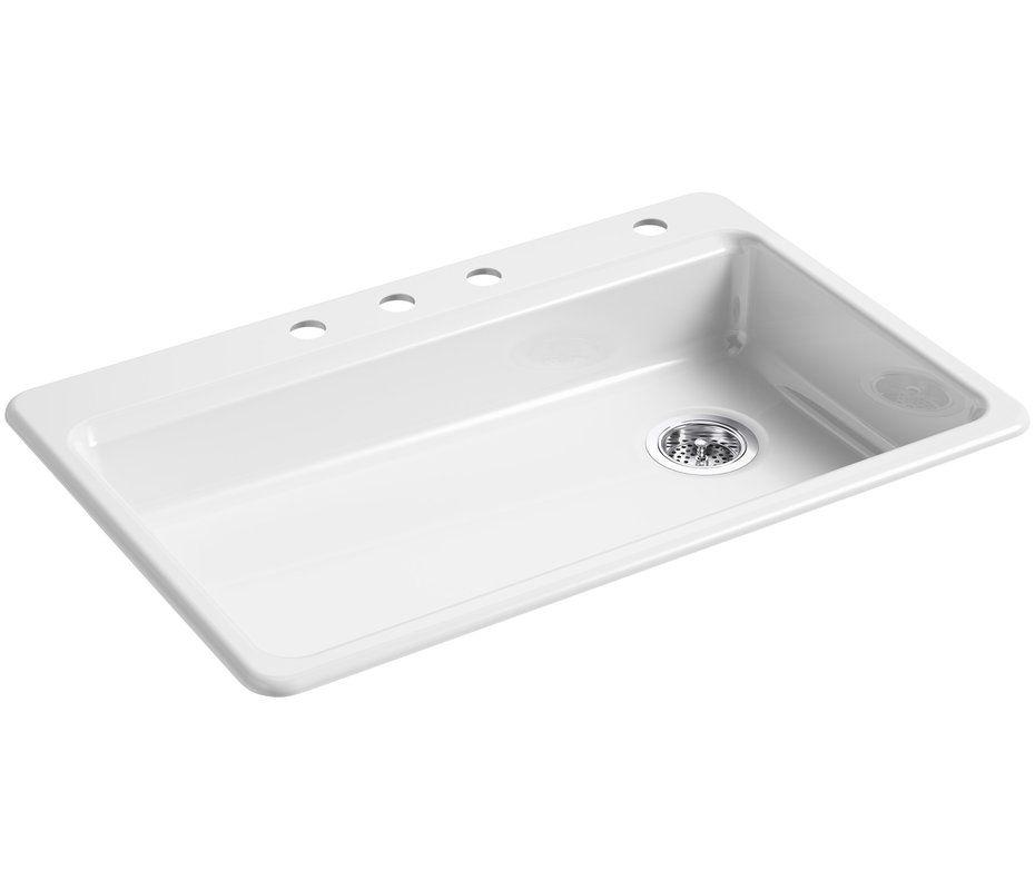 riverby 33 x 22 top mount single bowl kitchen sink with price     819 99 riverby 33 x 22 top mount single bowl kitchen sink with price      rh   pinterest com