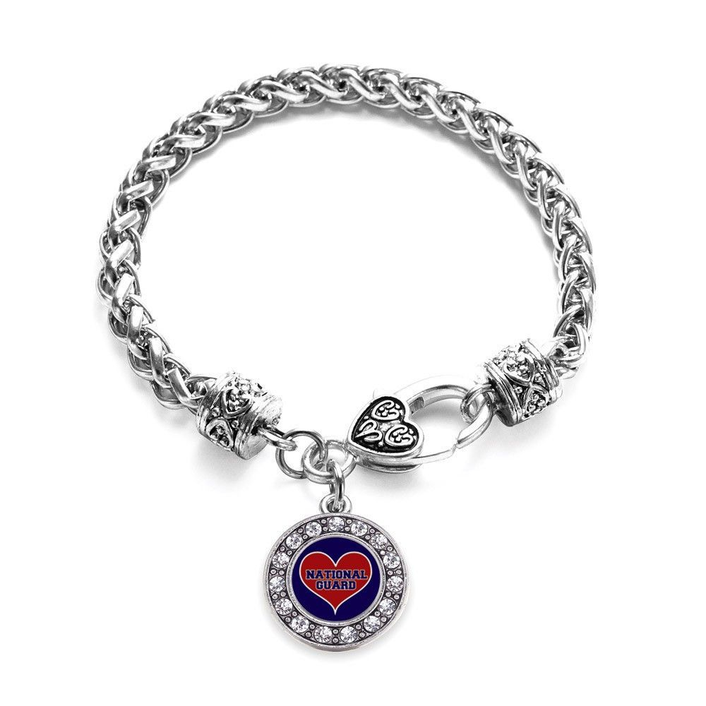 National guard circle charm braided bracelet national guard and