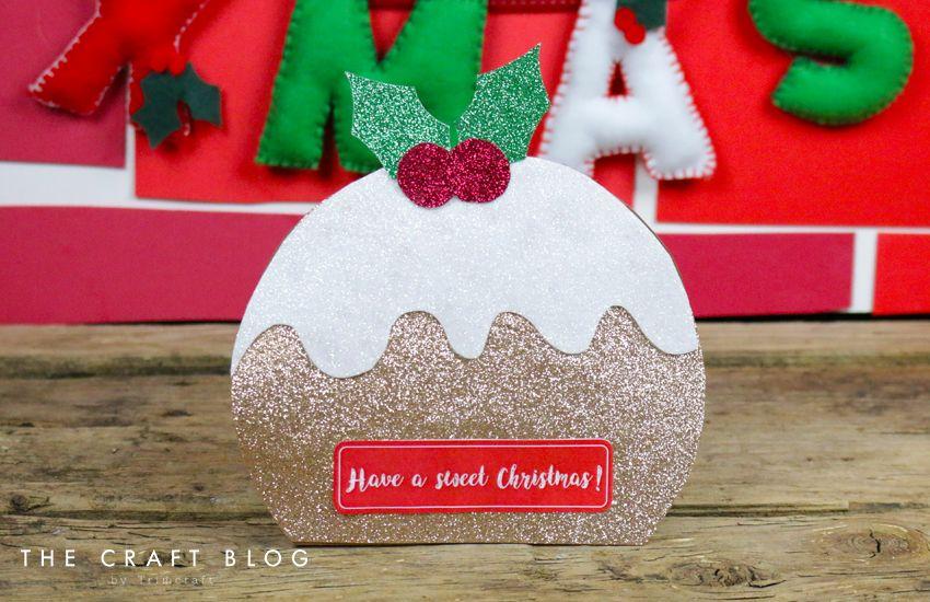Advent Calendar Day 6 Christmas Pudding Card Shape With Free Template Christmas Pudding Christmas Gift Wrapping Christmas Diy