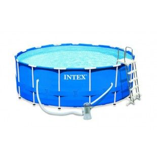 Kit Piscine Tubulaire Intex Metalframe Pool 4 57 X 1 22 M