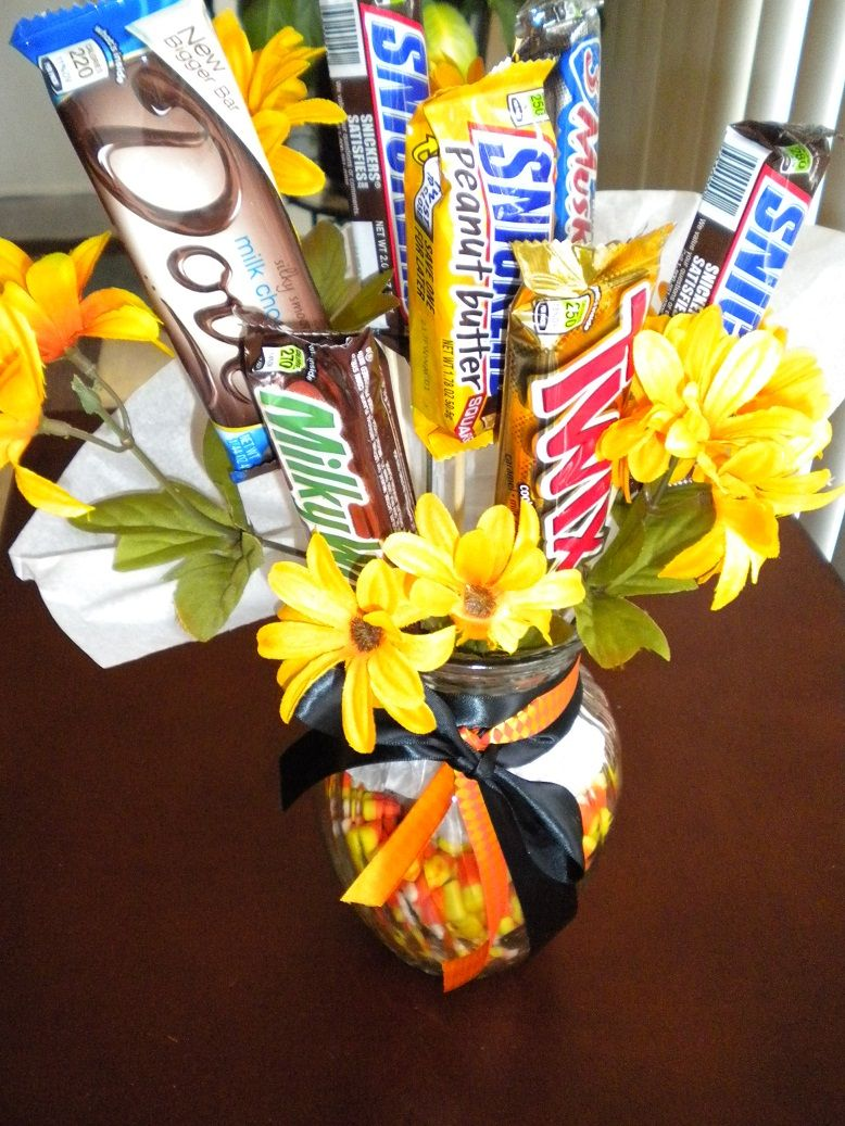 How to make a halloween candy bouquet a unique way to celebrate how to make a halloween candy bouquet a unique way to celebrate use as izmirmasajfo Choice Image