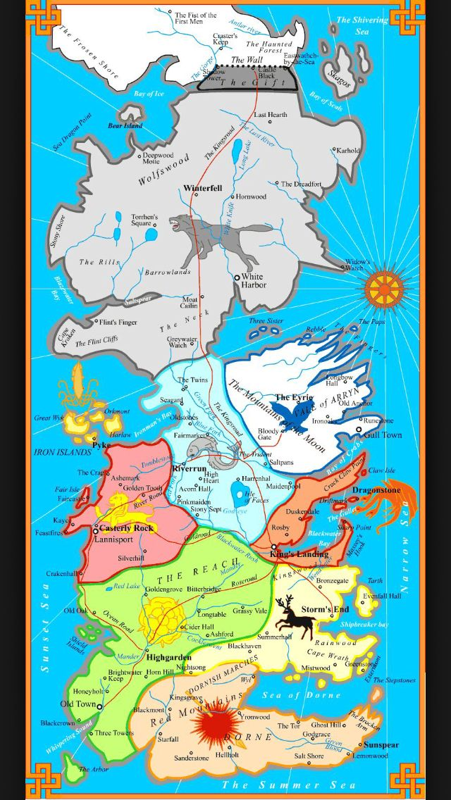 Game of thrones map.
