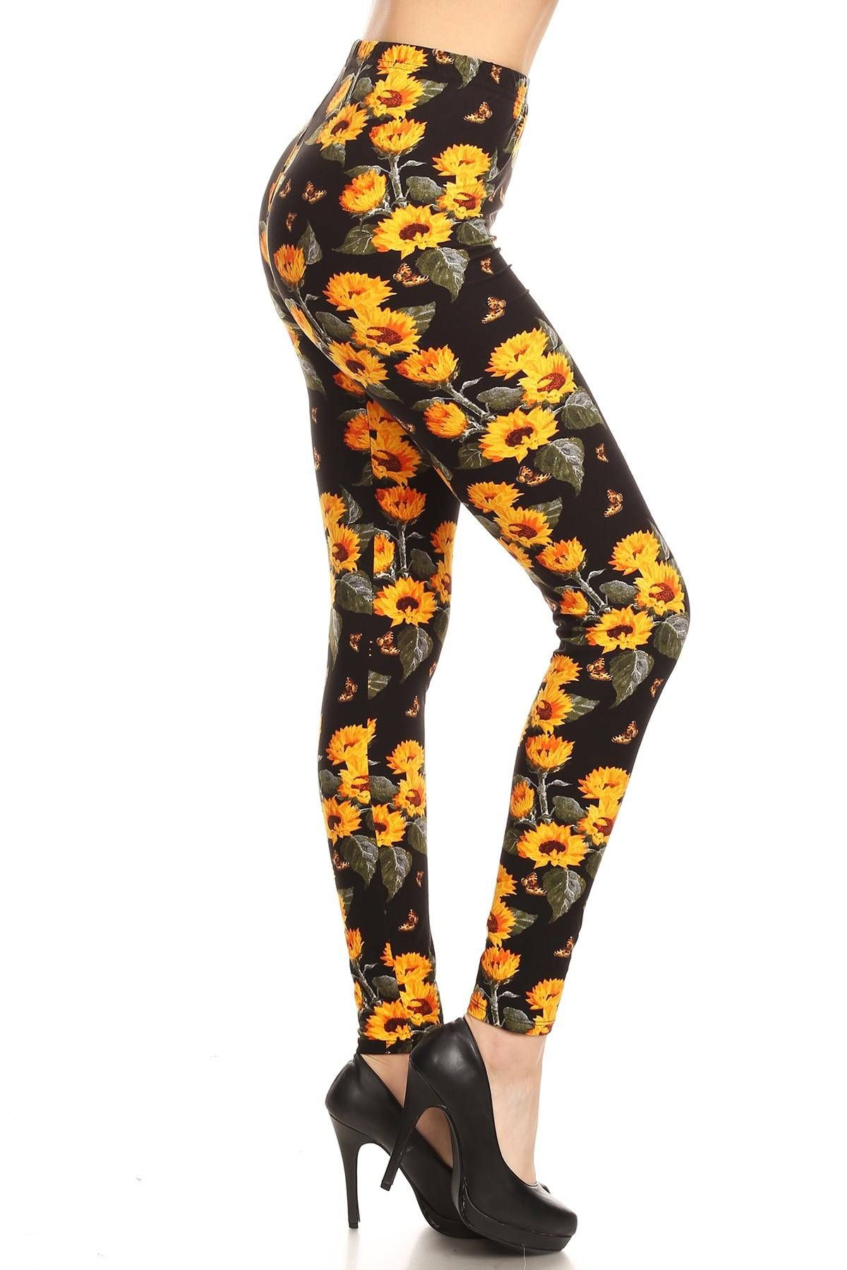 10a7444fb206d The Summer Splendor - OS #sunflowers #butterfly #leggings #spring ...