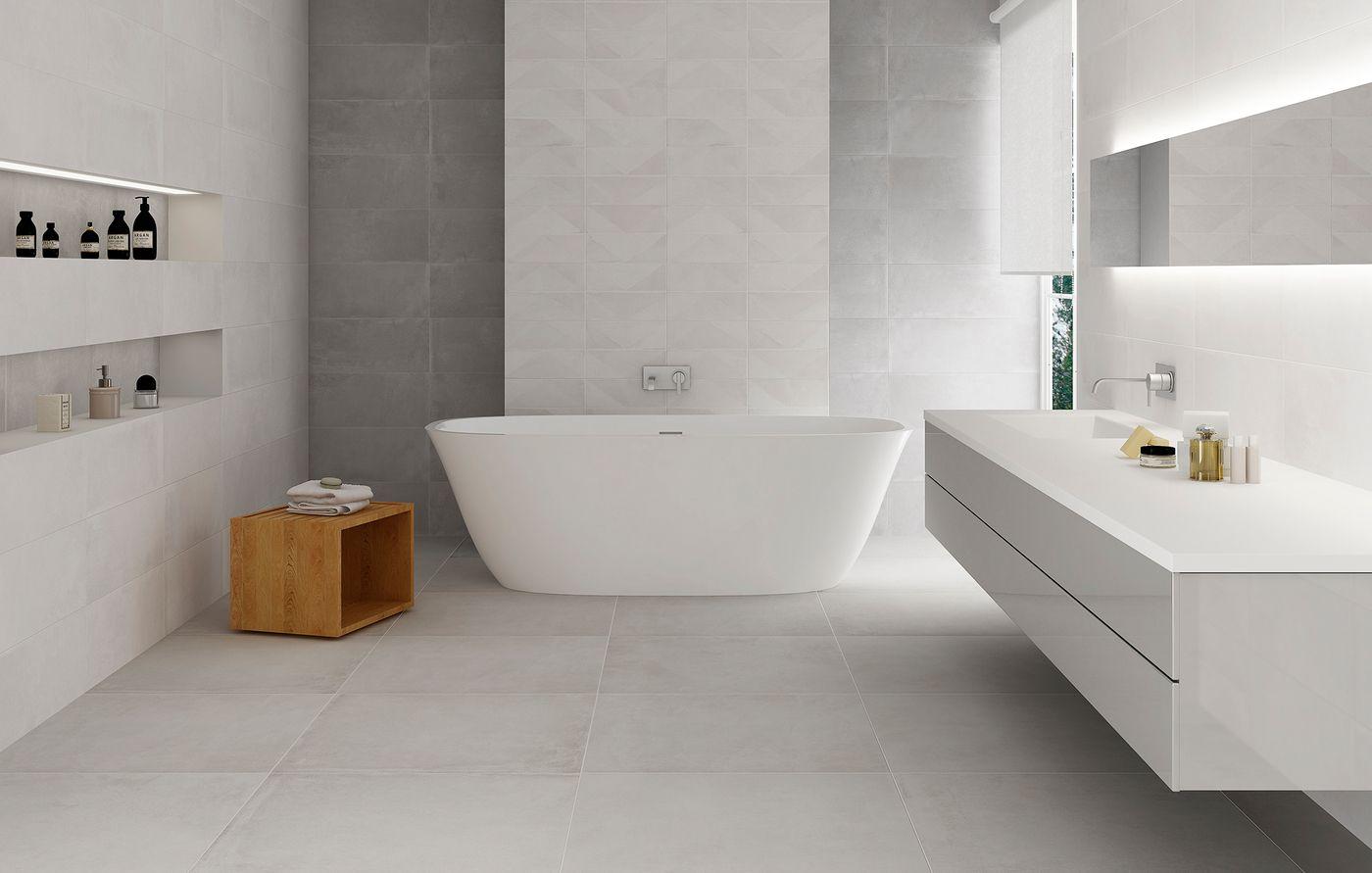 Carrelage Contemporain Design Blanc Nevada Blanco1 Carrelage Salle De Bain Salle De Bain Design Salle De Bain Grise