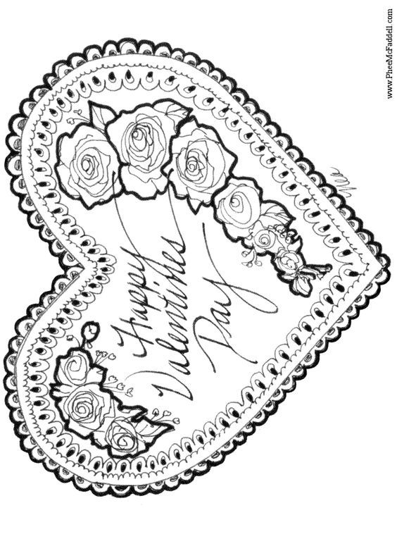 Vintage Valentine Coloring Pages 4 #coloringpagesideas # ...