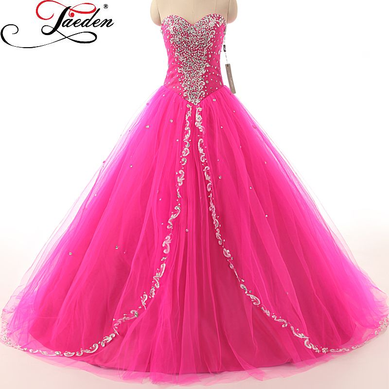 JAEDEN Tulle Ball Gown Quinceanera Dresses Pleat Crystal Bead Lace ...